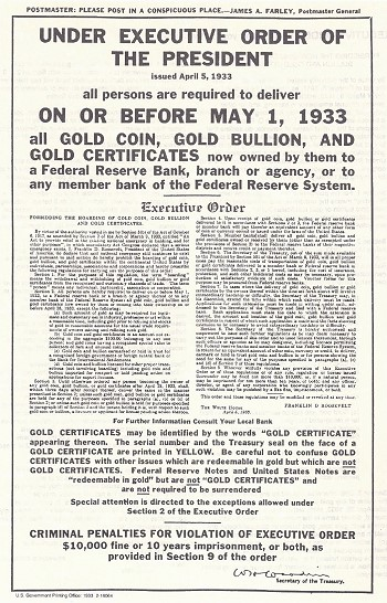 exec order 6102 sm From the Herb Hicks Files: The Illegal Ban on Gold Certificates