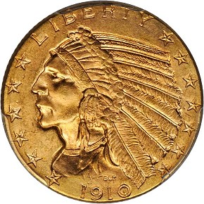 grsb 1910 Coin Rarities & Related Topics: Half Eagles ($5 gold coins) in March Rarities Night Auction