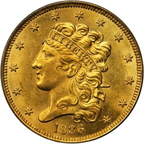 grsb 36 Coin Rarities & Related Topics: Half Eagles ($5 gold coins) in March Rarities Night Auction