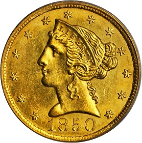 grsb 50c Coin Rarities & Related Topics: Half Eagles ($5 gold coins) in March Rarities Night Auction