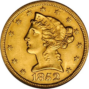 grsb 52 Coin Rarities & Related Topics: Half Eagles ($5 gold coins) in March Rarities Night Auction