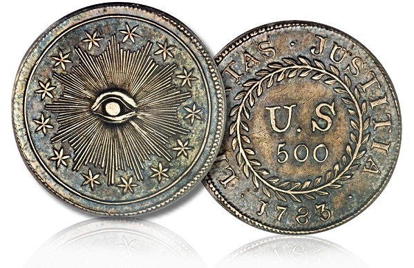ha quint Coin Rarities & Related Topics: U.S. 500 Unit Silver Pattern of 1783 (Type 2 Quint) To Be Auctioned!