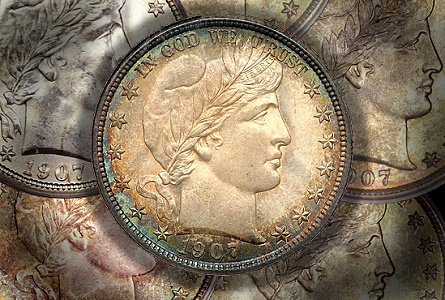 Coin Rarities & Related Topics: Denver Mint Barber Half Dollars of 1907, with comments on condition rankings