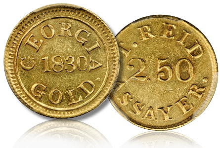 T Reid GA gold 250 Stacks Bowers ANA Money Show Auction May 7 11 Will Showcase Two Old Time Coin Collections