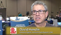 Numismatic Personality: David Hendin, April 19, 2013. VIDEO: 7:38.