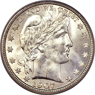 gr 041713 1907 d barber 50c eliasberg Coin Rarities & Related Topics: Denver Mint Barber Half Dollars of 1907, with comments on condition rankings