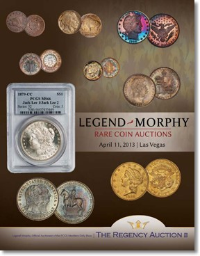 Legend-Morphy's Regency Auction III Next Week, April 11 at PCGS Members Only Show
