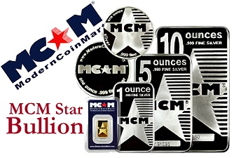 "mcm star bullion ModernCoinMart's ""MCM Star Bullion"" Silver and Gold Products Make Debut"