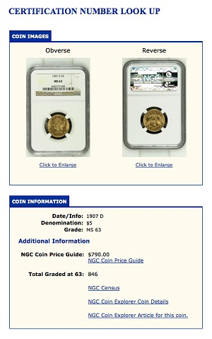 ngc lookup 7mil NGC Security Image Archive Now Includes 7 Million Coins