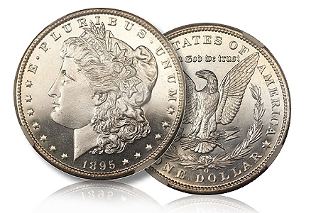The finest of five known proof 1895-O dollars to be offered in Long Beach