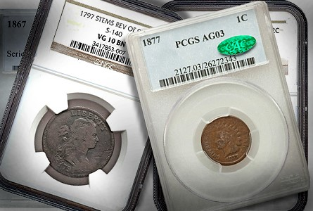 copper coins gr Coin Rarities & Related Topics: U.S. coins for less than $500 each, Part 1; Copper