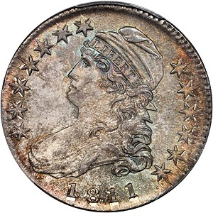 gr 1811 50c 66 Coin Rarities & Related Topics: Half Dollars of 1811, with emphasis upon two 'in the news'!
