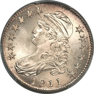 gr 1811 50c 67 Coin Rarities & Related Topics: Half Dollars of 1811, with emphasis upon two 'in the news'!