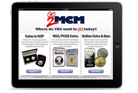 mcm ipad Technology Changes How Collectors of Coins and Precious Metals Investors do Business: Modern Coin Mart Launches New Go2MCM App for iPad