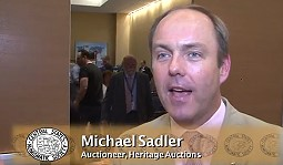 Michael Sadler Talks About Auctioning Million Dollar Bank Notes in Heritage Auction. VIDEO: 3:03