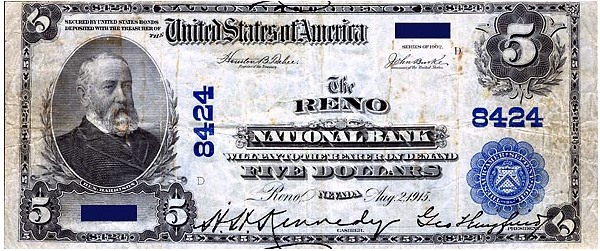 nevada note Nevada Issued Paper Money