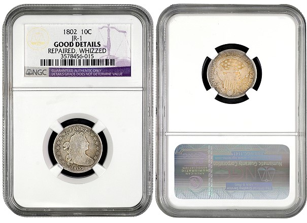 NGC Discovers Extremely Rare 1802 Dime