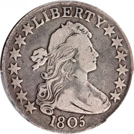 HD1805obv 275x275 Coin Rarities & Related Topics: Coins for less than $500 each, Part 4; Bust Half Dollars