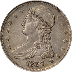 HD1837GrayObv 275x275 Coin Rarities & Related Topics: Coins for less than $500 each, Part 4; Bust Half Dollars