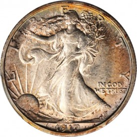 HD1917AU58obv 275x275 Coin Rarities & Related Topics: Inexpensive 20th Century Half Dollars for Beginners