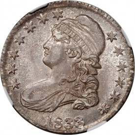Half1833obv 275x275 Coin Rarities & Related Topics: Coins for less than $500 each, Part 4; Bust Half Dollars