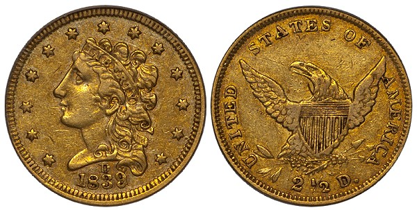 dw 1838d 250 mld United States Gold Coins with Multiple Levels of Demand