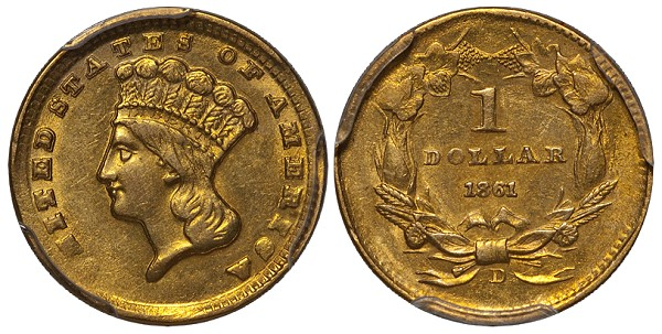 dw 1861d mld United States Gold Coins with Multiple Levels of Demand