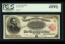 Record Price of $2.5 Million Paid for 1891 $1000 Bill at Heritage Auction. VIDEO: 4:46