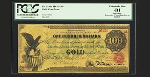 $100 1863 Gold Note Sells for More Than $2 Million at Heritage Auction. VIDEO: 3:37