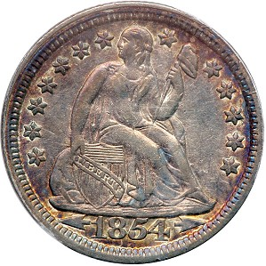 gr dimes 1854 Coin Rarities & Related Topics: U.S. coins for less than $500 each, Part 2; Dimes