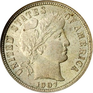 gr dimes 1907 Coin Rarities & Related Topics: U.S. coins for less than $500 each, Part 2; Dimes