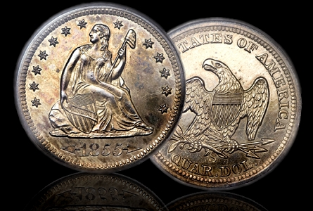 Coin Rarities & Related Topics: The Only Known Proof 1855-S Quarter