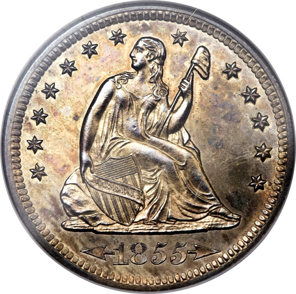 1855 s proof quarter obv Coin Rarities & Related Topics: The Only Known Proof 1855 S Quarter
