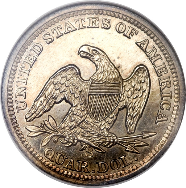 1855 s proof quarter rev Coin Rarities & Related Topics: The Only Known Proof 1855 S Quarter
