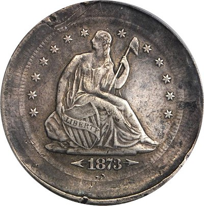 73cc error a Error Coins: Fascinating Multi Struck and Brockage 1873 CC With Arrows Half Dollar being offered for Sale