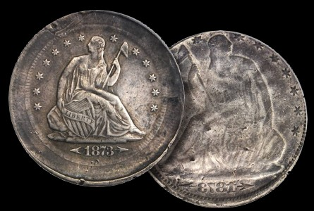 Error Coins: Fascinating Multi-Struck and Brockage 1873-CC With Arrows Half Dollar being offered for Sale