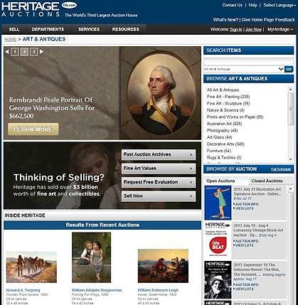 NewWebsite Heritage Auctions launches website redesign of HA.com