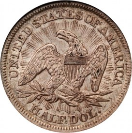 RaysReverse 273x275 Classic U.S. Coins for less than $500 Each, Part 5 : Liberty Seated Half Dollars