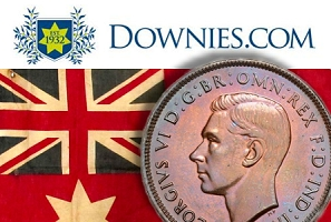 downies sm thumb Australia's Oldest Numismatic Auction House to hold 50th Anniversary Sale of Australian Coins and Currency in October!