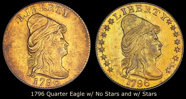 dw 1796 trans 250 Collecting Strategies: Transitional Gold Coins