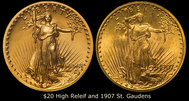 dw 1907 trans 20 Collecting Strategies: Transitional Gold Coins