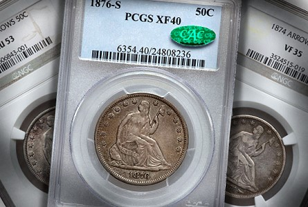 Classic U.S. Coins for less than $500 Each, Part 5 : Liberty Seated Half Dollars