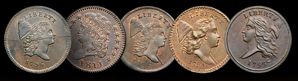 mis half cents The Only Complete Collection of U.S. Half Cents Ever Formed to be Auctioned in 2014