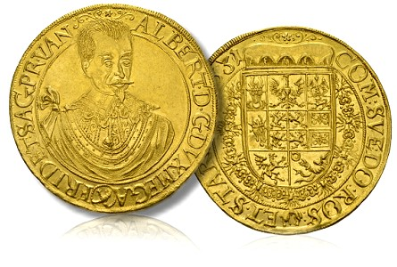 World Gold Coins: Albrecht von Wallenstein's Ten Ducat Gold mirrors his Extraordinary Economic Genius