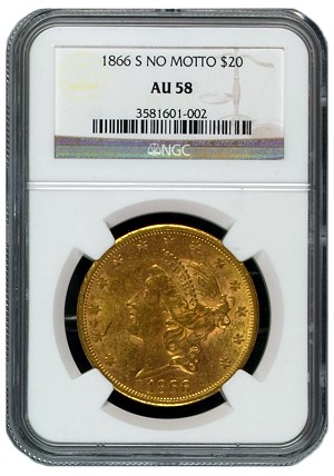 1866 S ngc58 20 legal Numismatic Crime Alerts: Missing / Stolen Coins in California and Florida