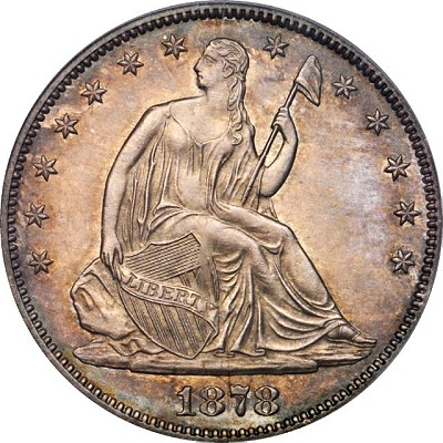 US Coins: 1878-S Liberty Seater Half Dollar