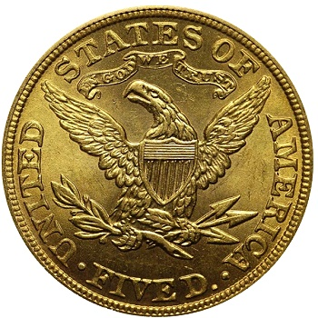 Counterfeit 1892 Half Eagle