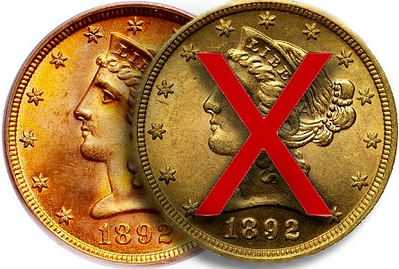 Counterfeit Coin Detection:  1892 US Gold Half Eagle