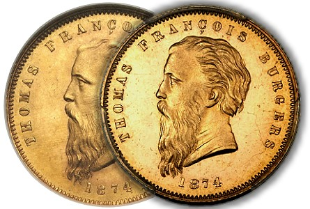 "A Highly Desirable ""Coarse Beard"" Burgers Pond World Gold Coins"