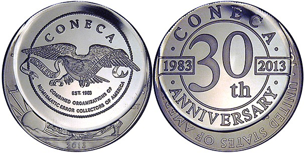 coneca 3 Error Coins from the latest issue of ErrorScope, CONECA'S bimonthly journal